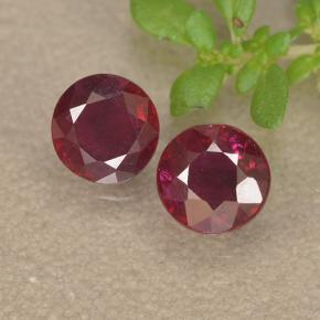 Wine Red Rubino Gem - 0.5ct Sfaccettatura rotonda (ID: 494962)