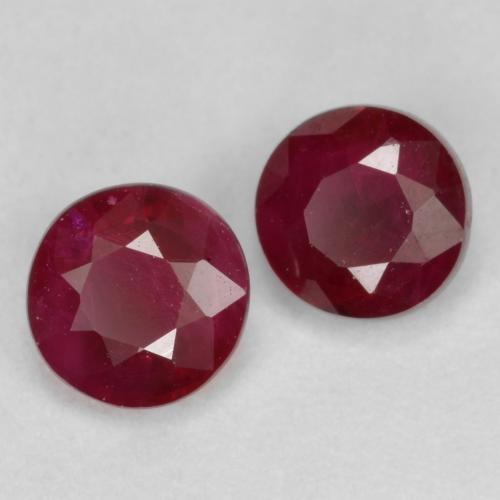 Wine Red Ruby Gem - 0.5ct Round Facet (ID: 494965)