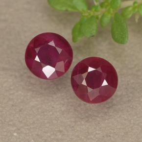 thumb image of 1ct Round Facet Pinkish Red Ruby (ID: 494968)