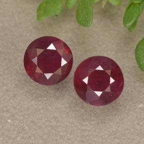 0.4ct Round Facet Pinkish Red Ruby Gem (ID: 494972)