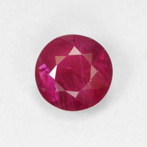 0.8ct Round Facet Pinkish Red Ruby Gem (ID: 495088)
