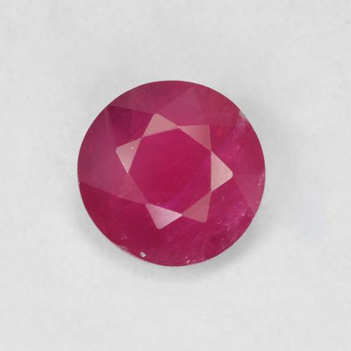 thumb image of 0.8ct Round Facet Pinkish Red Ruby (ID: 495152)