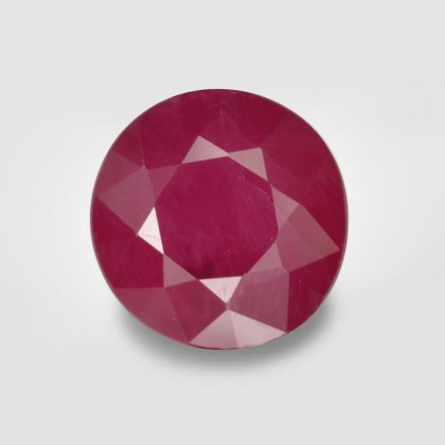thumb image of 1ct Round Facet Pinkish Red Ruby (ID: 495153)