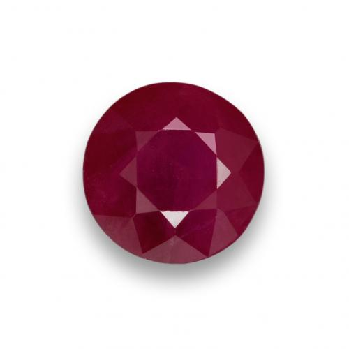 1ct Round Facet Pinkish Red Ruby Gem (ID: 495159)