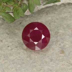 thumb image of 1.1ct Round Facet Pinkish Red Ruby (ID: 495162)