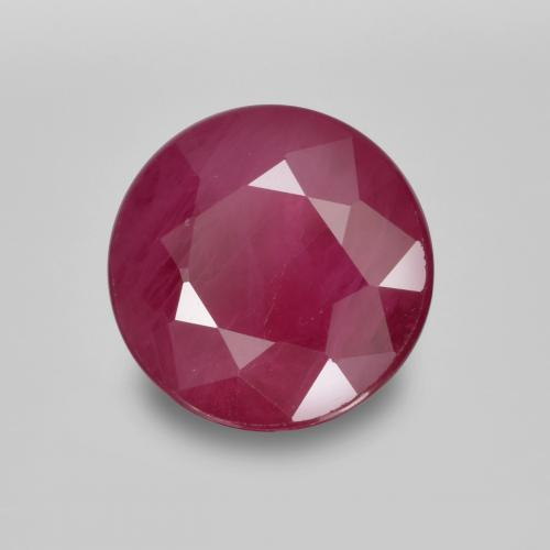 thumb image of 0.9ct Round Facet Pinkish Red Ruby (ID: 495170)