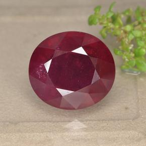 Red Ruby Gem - 18.1ct Oval Facet (ID: 495271)