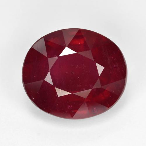 Wine Red Rubí Gema - 9.6ct Forma ovalada (ID: 495277)