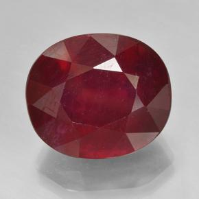 Red Ruby Gem - 15.9ct Oval Facet (ID: 495287)