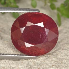 Red Ruby Gem - 14.5ct Oval Facet (ID: 495289)