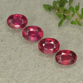 Pinkish Red Ruby Gem - 1.2ct Oval Facet (ID: 495338)