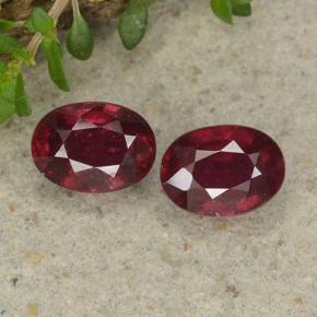 thumb image of 2.3ct Oval Facet Pinkish Red Ruby (ID: 495378)