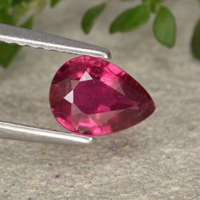 thumb image of 0.9ct Pear Facet Pinkish Red Ruby (ID: 495512)