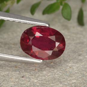 1.1ct Oval Facet Pinkish Red Ruby Gem (ID: 495513)