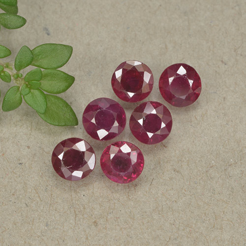 Wine Red Rubí Gema - 0.3ct Faceta Redonda (ID: 495578)