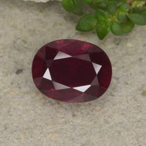 thumb image of 3.1ct Oval Facet Pinkish Red Ruby (ID: 495609)