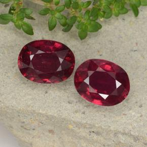 thumb image of 5ct Oval Facet Pinkish Red Ruby (ID: 495794)