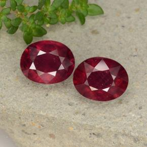 thumb image of 5ct Oval Facet Pinkish Red Ruby (ID: 495796)