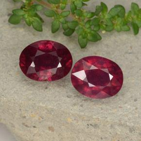 Pinkish Red Ruby Gem - 2.7ct Oval Facet (ID: 495798)