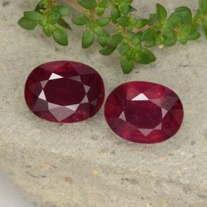 Bright Red Ruby Gem - 2.4ct Oval Facet (ID: 495799)