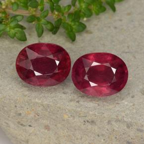 3.1ct Oval Facet Pinkish Red Ruby Gem (ID: 495801)