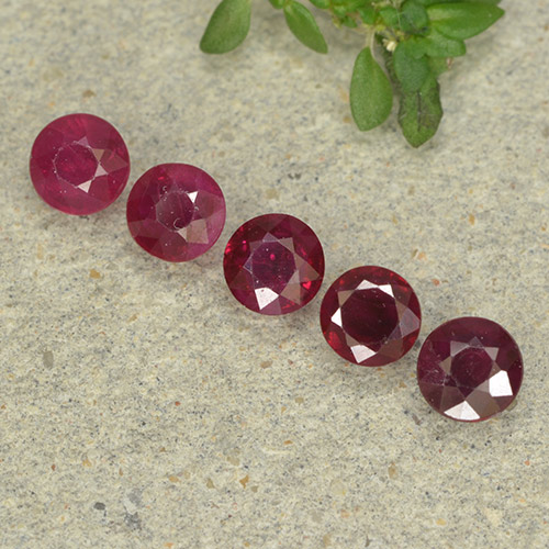 0.2ct Round Facet Pinkish Red Ruby Gem (ID: 496003)