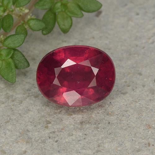 Blood Red Rubí Gema - 2.1ct Forma ovalada (ID: 496018)