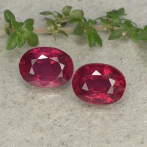 2.1ct Oval Facet Pinkish Red Ruby Gem (ID: 496047)