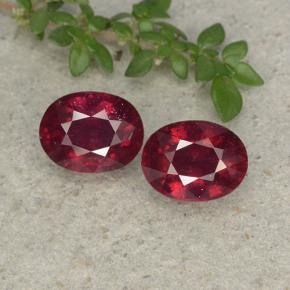 Pinkish Red Ruby Gem - 2ct Oval Facet (ID: 496049)