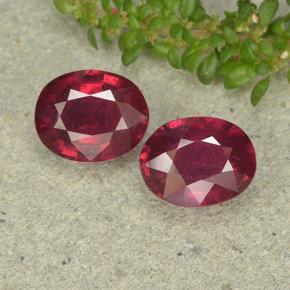 Medium Red Ruby Gem - 2.4ct Oval Facet (ID: 496348)