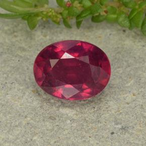 Medium Red Ruby Gem - 1.6ct Oval Facet (ID: 496369)
