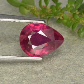 1.3ct Pear Facet Pinkish Red Ruby Gem (ID: 496377)