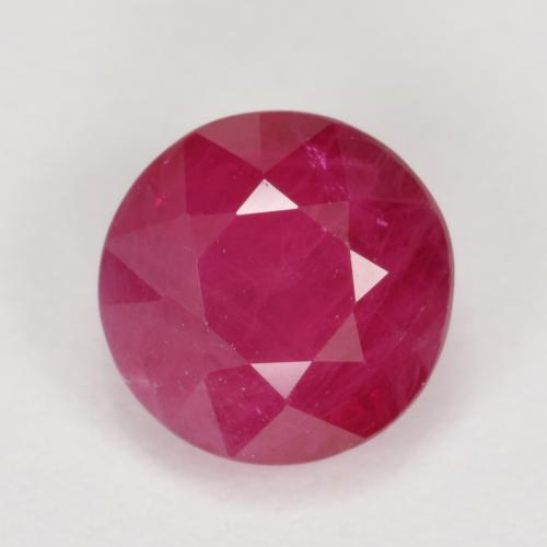 thumb image of 1.1ct Round Facet Pinkish Red Ruby (ID: 496572)
