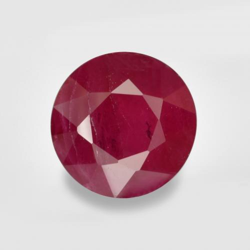 1ct Round Facet Pinkish Red Ruby Gem (ID: 496582)