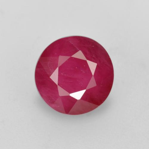 Jam Red Ruby Gem - 1ct Round Facet (ID: 496622)