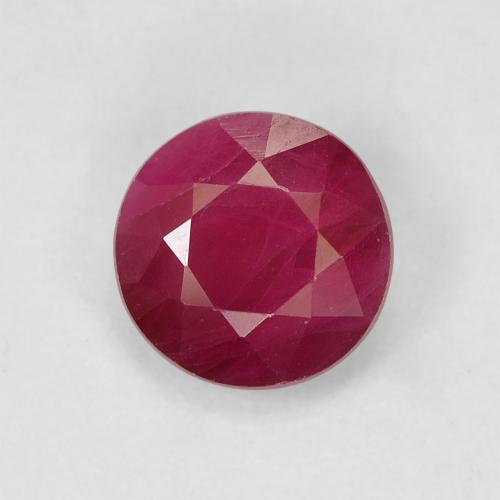 thumb image of 1ct Round Facet Pinkish Red Ruby (ID: 496629)