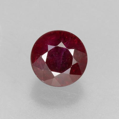 0.5ct Round Facet Pinkish Red Ruby Gem (ID: 496691)