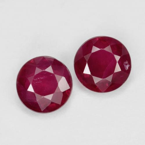 0.4ct Round Facet Pinkish Red Ruby Gem (ID: 496693)