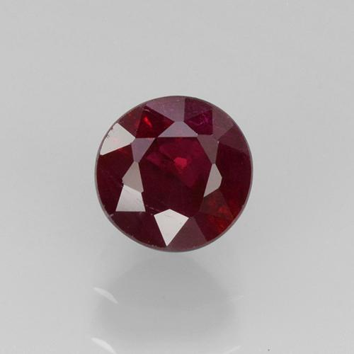 Wine Red Ruby Gem - 0.5ct Round Facet (ID: 496715)