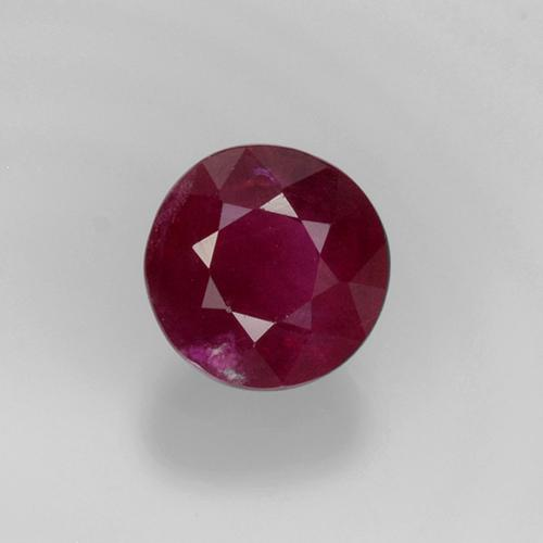 0.5ct Round Facet Pinkish Red Ruby Gem (ID: 496722)