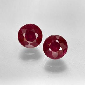 0.6ct Round Facet Pinkish Red Ruby Gem (ID: 496729)