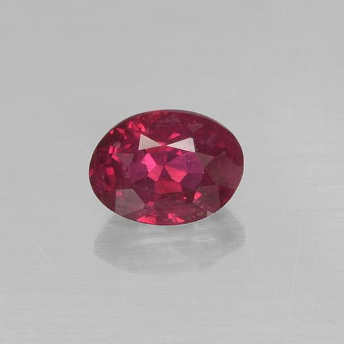 0.3ct Oval Facet Pinkish Red Ruby Gem (ID: 499390)