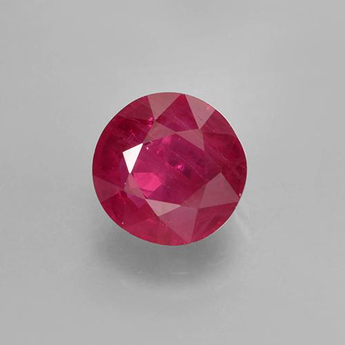 Light Red Ruby Gem - 1.2ct Round Facet (ID: 499400)