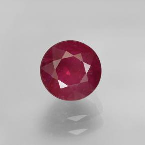 Pinkish Red Ruby Gem - 1.6ct Round Facet (ID: 499405)