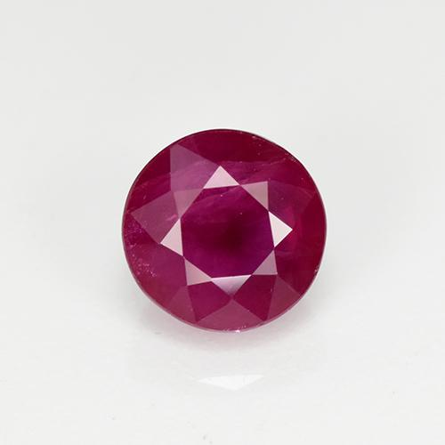 Medium Red Ruby Gem - 1.3ct Round Facet (ID: 499438)