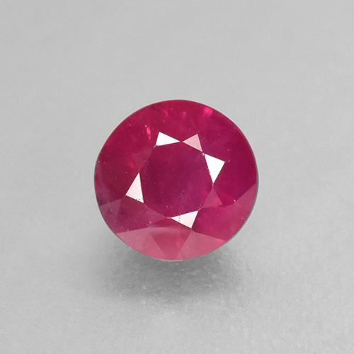 Light Red Ruby Gem - 0.7ct Round Facet (ID: 499491)