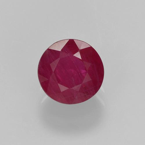 Medium Red Rubí Gema - 0.7ct Faceta Redonda (ID: 499749)