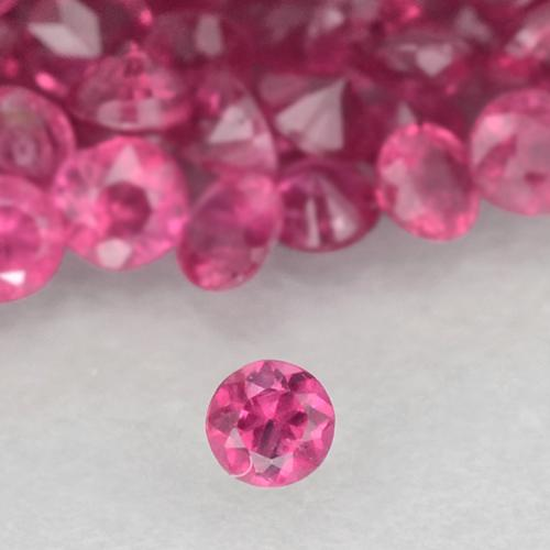 0ct Taglio brillante Medium-Dark Pink Rubino Gem (ID: 500483)