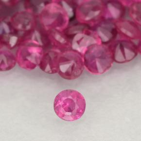 Pinkish Red Ruby Gem - 0ct Diamond-Cut (ID: 500484)