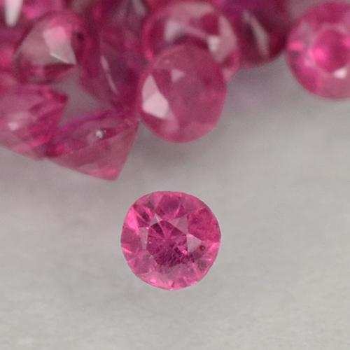 0ct Taglio brillante Medium-Dark Pink Rubino Gem (ID: 500492)